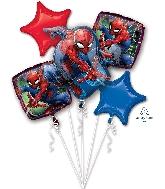 Spider-Man Bouquet Foil Balloon