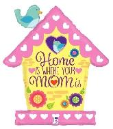 """33"""" Shape Birdhouse Mom Foil Balloon"""