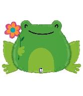 "31"" Shape Garden Frog Foil Balloon"
