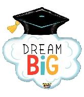 "29""  Mighty Dream Big Grad Foil Balloon"
