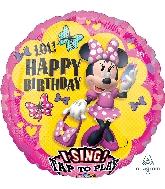 "28"" Minnie Happy Helpers Sing-A-Tune® XL® Foil Balloon"