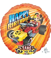 """28"""" Mickey Roadster Racers Sing-A-Tune XL Foil Balloon"""