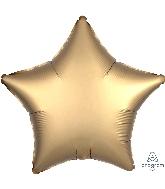 "18"" Satin Luxe Gold Sateen Star Foil Balloon"