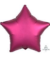 "18"" Satin Luxe Pomegranate Star Foil Balloon"