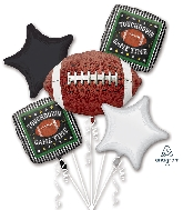 Game Time Football Bouquet Foil Balloon