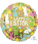 """18"""" Happy Easter Gold Foil Balloon"""