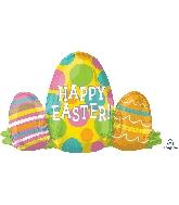 "29"" Happy Easter Egg Trio SuperShape XL Foil Balloon"