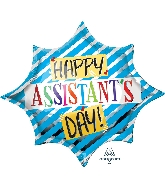"35"" Assistant's Day Blue SuperShape XL Foil Balloon"