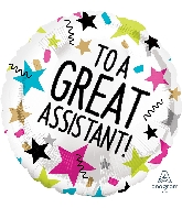 "18"" Great Assistant Stars Foil Balloon"