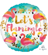 "18"" Let's Flamingle Foil Balloon"