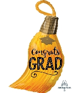 "28"" Congrats Grad Tassel Junior Shape XL Foil Balloon"