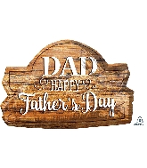 "28"" Happy Father's Day Wood Marquee Foil Balloon"