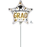 "9"" Congratulations Grad Star Airfill Only Foil Balloon"