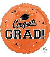 "18"" School Colors Pride - Orange Foil Balloon"