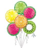 Tropical Fruit Bouquet Foil Balloon