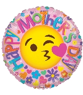 "18"" Happy Mother's Day Smiley Face Foil Balloon"