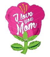 "28"" I Love You Mom Tulip Shape GelliBean Foil Balloon"