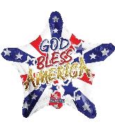 """18"""" God Bless America Foil Balloon"""