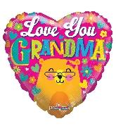 "18"" Love You Grandma Bear Foil Balloon"