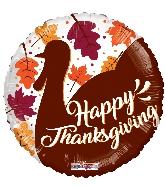 "18"" Thanksgiving Turkey Foil Balloon"