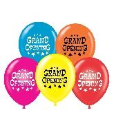 """17"""" Grand Opening Printed Latex Balloons 50 Per Bag"""