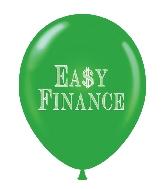 "17"" Easy Finance Printed Latex Balloons 50 Per Bag"