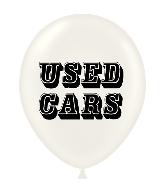 "17"" Used Cars Printed Latex Balloons 50 Per Bag"