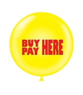"36"" Tuf Tex Latex Balloon 2 Count Buy Here-Pay Here (Red)"