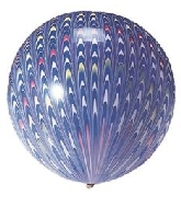 """18"""" Peacock Balloon Latex Balloon Blue (5 Count)"""