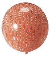 "18"" Peacock Balloon Latex Balloon Orange (5 Count)"