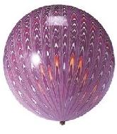 """18"""" Peacock Balloon Latex Balloon Purple (5 Count)"""