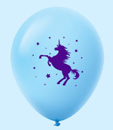 "11"" Unicorn Latex Balloons 25 Count Pastel Blue"