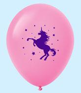 "11"" Unicorn Latex Balloons 25 Count Magenta"