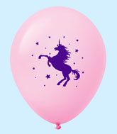 "11"" Unicorn Latex Balloons 25 Count Pastel Pink"