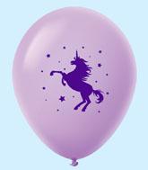 "11"" Unicorn Latex Balloons 25 Count Lavender"