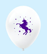 "11"" Unicorn Latex Balloons 25 Count White"