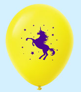 "11"" Unicorn Latex Balloons 25 Count Yellow"