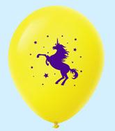 "11"" Unicorn Latex Balloons 25 Count Yellow"