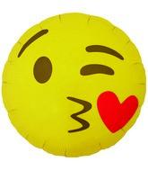 "18"" Foil Balloon Emoji Kissing Heart"