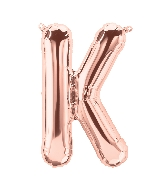 "16"" Airfill Only Letter K - Rose Gold  Letter"