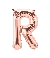 "16"" Airfill Only Letter R - Rose Gold  Letter"