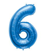"34"" Northstar Brand Packaged Number 6 - Blue"