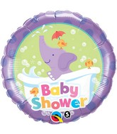 "18"" Baby Shower Elephant Packaged Mylar Balloon"