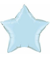 "36"" Star Foil Mylar Balloon Pearl Light Blue"