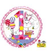 "18"" Rachel Ellen Age 1 Bunny Polka Dots"