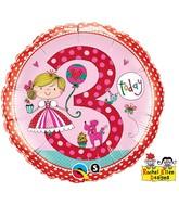 "18"" Rachel Ellen Age 3 Princess Polka Dots"