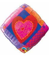 """18"""" Heart Accent Patterns Packaged"""