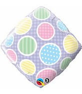 """18"""" Polka Dots Accent Patterns Packaged"""