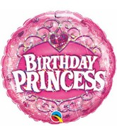 "18"" Birthday Princess Tiara Balloon"