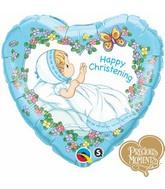 "18"" Happy Christening Boy Precious Moments"